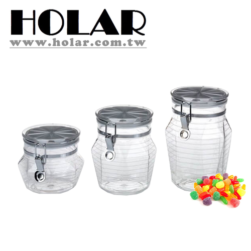 Acrylic [Holar] Taiwan Made Stylish Canisters Plastic Food Containers With Silver Lid
