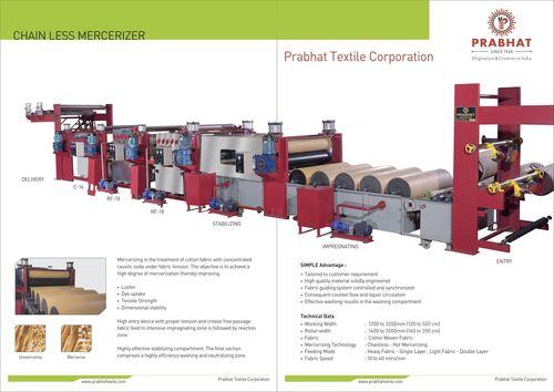 Chainless Merceriser Machine For Textile