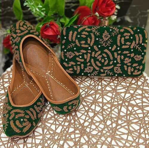 Sky Blue Indian Designer Jutti