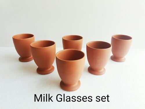 Clay Milk Glasses Set