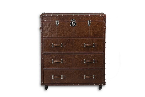 Water Resistance Leather Chest Of Drawers - Leather Furniture