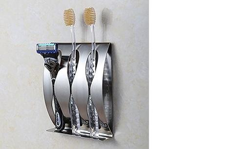Jern Stainless Steel 3 Toothbrush Holder Set