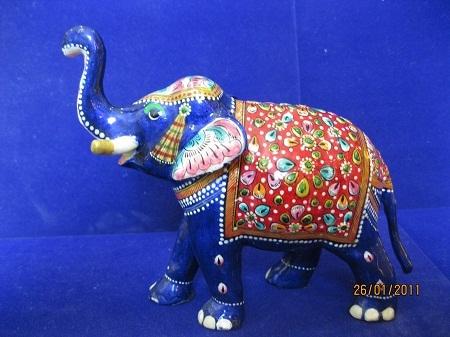 Meenakari Elephant Statues