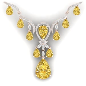 Certified Real Natural 4.50 Tcw Brilliant Round Cut White Diamonds Beautiful 18Kt Gold Necklace