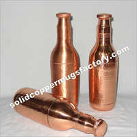 Pure Copper Metal Champagne Bottle