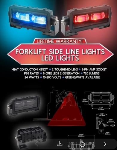 Forklift Side Line Led Lights