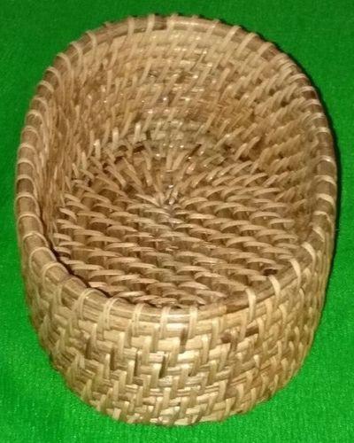 Natural Oval Cane Basket