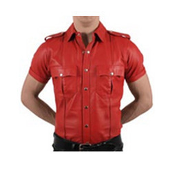 Attractive Design Mens Leather Shirt