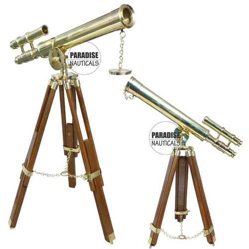 Tripod Brass Adjustable Paradise Nauticals Telescope