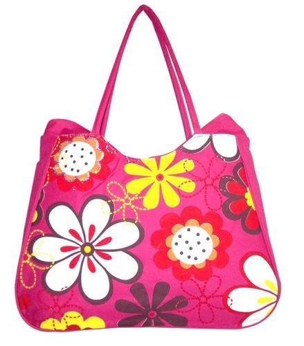 Ladies Printed Attractive Jute Bag