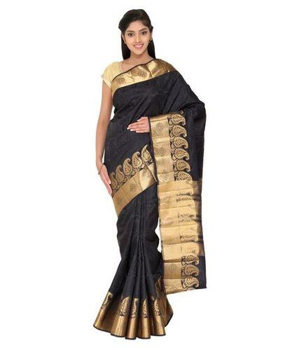 Black Soft Silk Saree - The Chennai Silks , 74-C, New Market