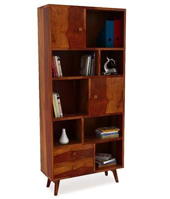Lifeestyle Duke Sheesham Wood Bookcase (Honey Finish)