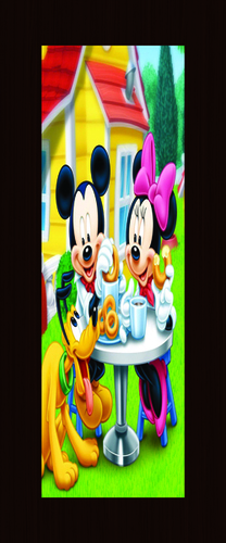 Tom and Jerry Printed Door Skin in  Thakkarbapa Nagar