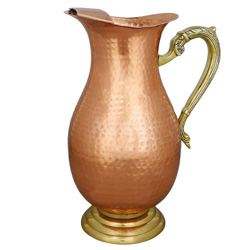 Pure Copper Hammered Luxury Mughal Jug