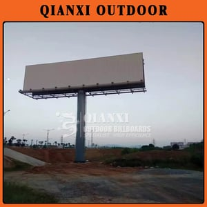 Double Sides Steel Structure Solar Advertising Billboard