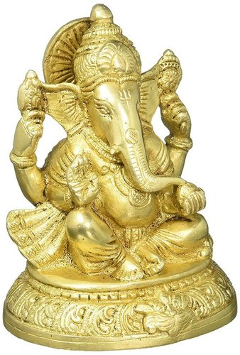 Lord Ganesh Brass Idol