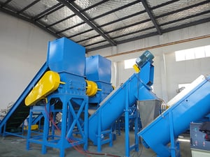 PE PP Film Woven Bags Recycling Washing Line