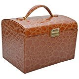 Knott Brown Croco Designer Jewellery Makeup Case