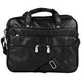 Knott Classy Black Laptop Messenger Bag