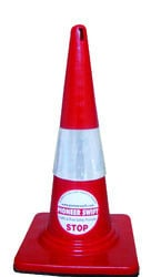 Rubber Base Safety Cone