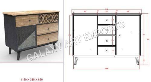 Drawer Cabinet Antique Style 5 in  Pratap Nagar