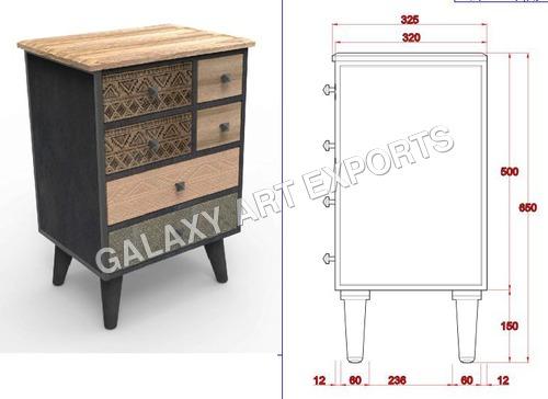 Drawer Cabinet Antique Style in  Pratap Nagar