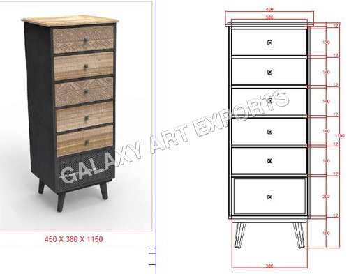 Drawer Cabinet Antique Long Style 2