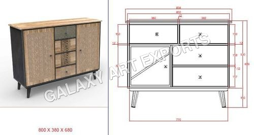 Drawer Cabinet Antique Style 4