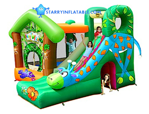 Giraffe Jungle Fun Jumping Castle