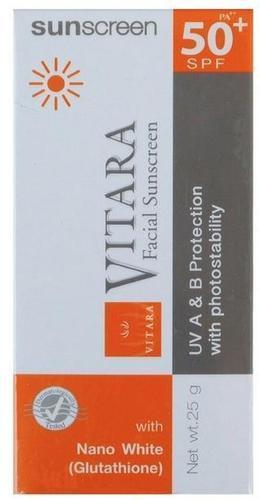 New Vitara Facial Sunscreen With Nano White Glutathione -Spf 50