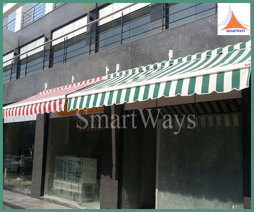 Red And Green Commercial Awning