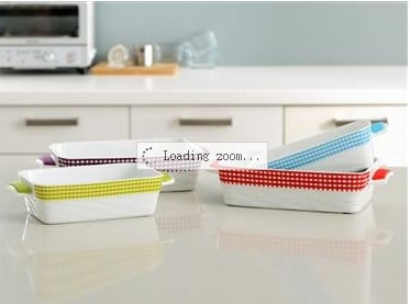 Wavy Rectangular Baker With Silicone Handles