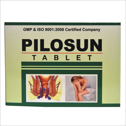 Pilosun Herbal Tablet For Haemorrhoids And Piles