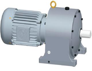 Gear Reducer Motor 5.5kw Ratio 40:1-120:1 - Horizontal