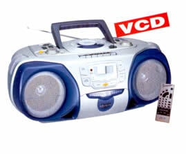 RC-191 VCD- Digital VCD Player With CD And Radio Cassette Recorder