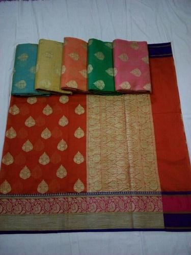 Banarasi Dupion Cotton Silk Sarees