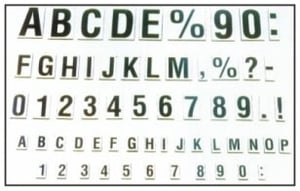 Magnetic Letter And Figures