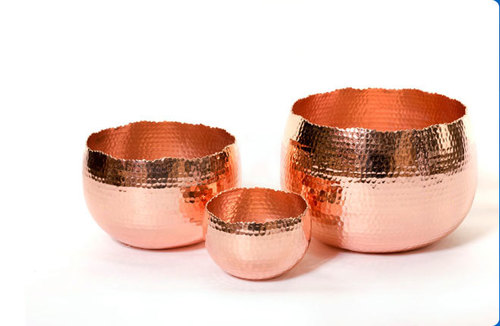 Fully Handcrafted Copper Fruit Serving Bowls