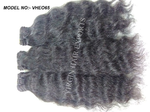 Pure Indian Temple Virgin Natural Wavy Human Hair