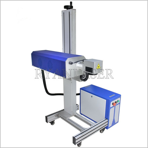 Blue Co2 Flying Laser Marking Machines
