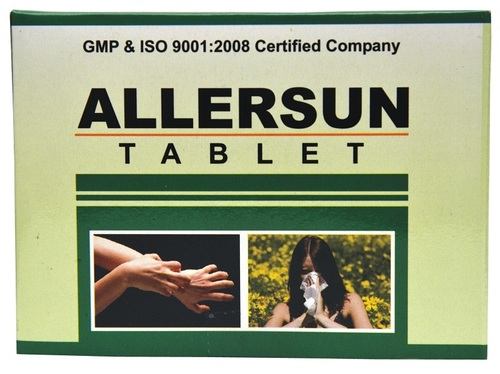 Ayurvedic Allersun Tablet For Anti Allergic Drug