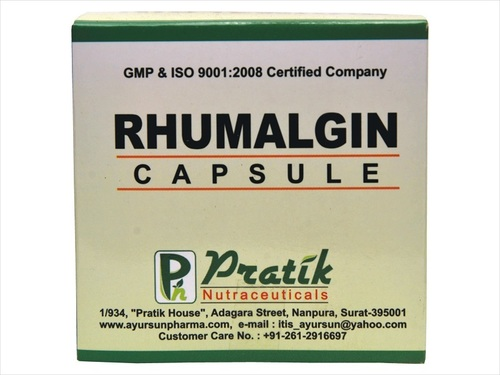 Herbal Rhumalgin Capsule For Analgesic And Pain Reliever