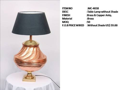 Table Lamps Without Shade