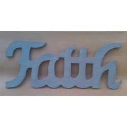 Wooden Faith Word