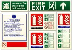 Finely Finished Fire Safety Signs