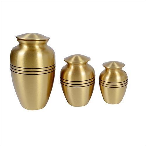Ribs Brass Metal Urns