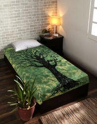 Mandala Tie Dye Printed Single Bed Sheet