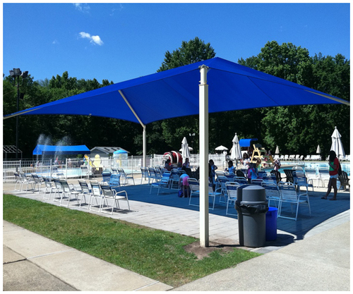 Tensile Structure At The Pool