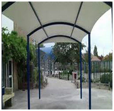 Walkway Structure At Hotel Entrance
