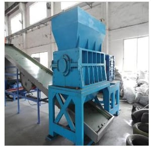 Waste Tires And Plastic Pyrolysis System - Single Axis Tire Crusher